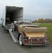 Special and classic car transport in England